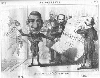 caricaturistas saben que Juárez es una figura que resiste mucho la