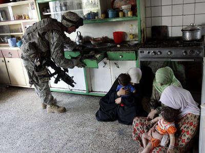 cateo de un soldado en iraq