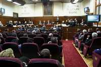 Sesión de la Suprema Corte en la que el ministro presidente, Mariano Azuela, presentó su último informe al frente de la institución, el viernes pasado