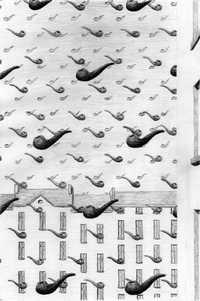 Un grabado de Rosángela Pérez Mendoza incluido en el libro El arte de fumar en pipa