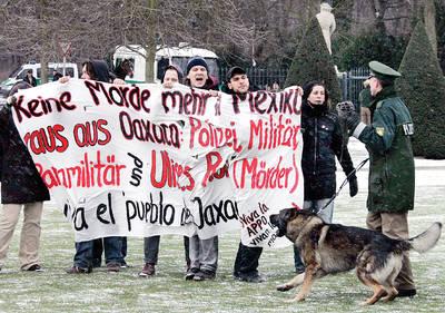 REPUDIO A LA VISITA PRESIDENCIAL EN ALEMANIA