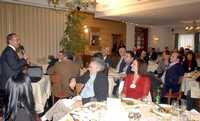 El presidente Felipe Calderón durante un desayuno con altos directivos de trasnacionales, en Davos, Suiza