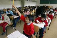 La prueba Enlace está mal planteada y contiene preguntas malplanteada, criticaron mentores de escuelas públicas. En la imagen, una escuela en Iztapalapa