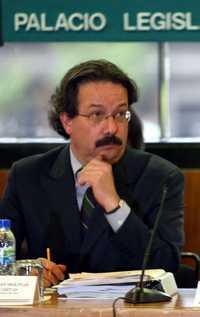 El director del IMSS, Juan Molinar Horcasitas, durante su comparecencia en la Cámara de Diputados