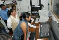 Inaguración de la radio comunitaria Xtrema 87.5 FM, en el segundo encuentro Experiencias y Resultados del Programa de Apoyo a Pueblos Originarios, en la Casa de la Cultura San Pedro Atocpan, delegacion Milpa Alta, el 1º de abril de 2006