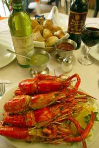 Un plato de acamayas, en el restaurante de la colonia San José Insurgentes al que dan nombre
