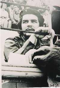 El Che en una barrera en Las Ventas, el 3 de septiembre de 1959