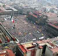 Tercera Convención Nacional Democrática, ayer en el Zócalo
