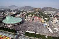 Vista aérea de la Basílica de Guadalupe, la cual fue visitada por millones de personas desde la noche del martes