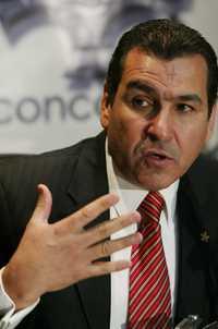 Ismael Plascencia, presidente de la Concamin, durante la conferencia de prensa que ofreció ayer