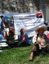 Miembros de varias ONG realizaron una marcha en Chilpancingo para conmemorar el 36 aniversario del asesinato de Genaro Vázquez y en demanda de la cancelación del capítulo agropecuario del TLCAN