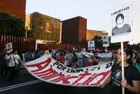 Protesta de organizaciones civiles frente a la Cámara de Diputados en rechazo a la reforma judicial, el pasado 19 de febrero