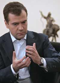 Dimitri Medvedev, viceprimer ministro y aspirante presidencial de Rusia