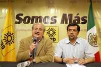 Conferencia de prensa de Graco Ramírez y Rafael Hernández, del equipo de Jesús Ortega
