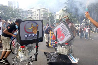Repudio contra medios en Caracas