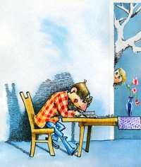 Portada del libro para niños ¡Casi medio año!, de M. B. Brozon, publicado por Ediciones SM, en la colección El Barco de Vapor