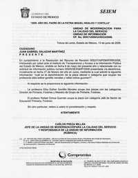 Respuesta de los SEIEM a la solicitud de información sobre las plazas laborales de los dirigentes del SNTE