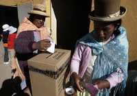Casilla de votación en El Alto, región ubicada a las afueras de La Paz