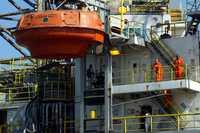 Instalaciones de Petróleos Mexicanos en el puerto de Veracruz