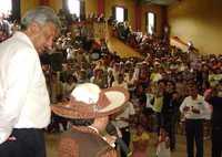 Andrés Manuel López Obrador visitó Arroyo Seco, Querétaro