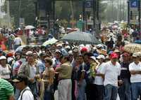 Profesores de Morelos durante la toma de las casetas de cobro en la autopista México-Cuernavaca el pasado 3 de septiembre