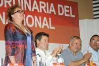 La líder nacional del magisterio, Elba Esther Gordillo, acompañada por Eduardo Bours, gobernador de Sonora, inauguró ayer la 26 Reunión Extraordinaria del Sindicato Nacional de Trabajadores de la Educación, en la ciudad de Hermosillo