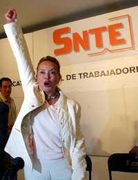 La presidenta del Sindicato Nacional de Trabajadores de la Educación, Elba Esther Gordillo, en imagen de archivo