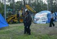 Vecinos de la delegación Miguel Hidalgo que se oponen a la construcción de seis pasos a desnivel en Paseo de las Palmas instalaron campamentos para impedir la destrucción de camellones y áreas verdes