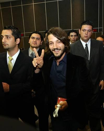 El actor Diego Luna, ayer, en Guadalajara