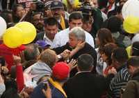 Andrés Manuel López Obrador, antes del mitin frente a Televisa Chapultepec