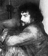 Dos tomas del revolucionario cuando fue hecho prisionero en La Higuera, Bolivia