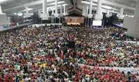 Asistentes al Foro Social Mundial, en Belem, Brasil, que culminará sesiones el próximo domingo
