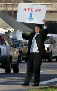 Un vendedor desempleado en Sacramento, California