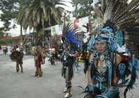 Danzas prehispánicas fueron ejecutadas durante la ceremonia de inauguración del Foro Social Mundial 2009, este viernes en la UACM