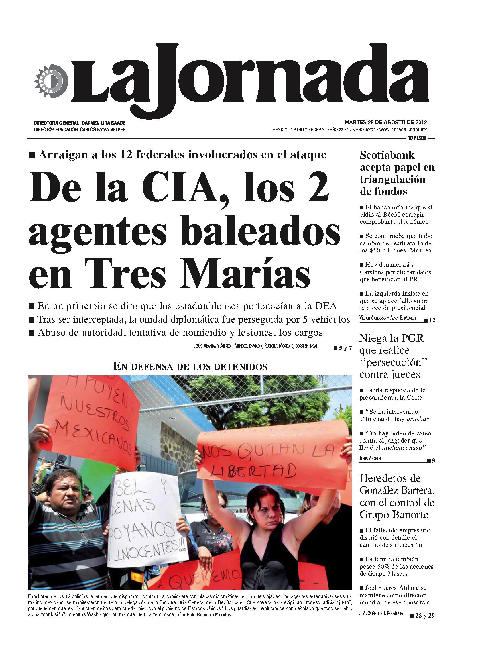 La jornada en internet martes 28 de agosto de 2012 Noticias del espectaculo mexicano