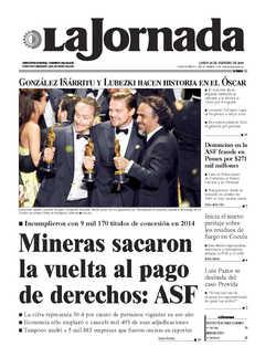 La jornada pemex tuvo p rdidas acumuladas en 2015 for Noticias de hoy espectaculos