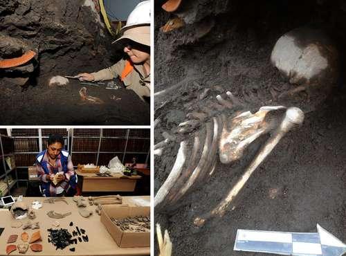 Reportan hallazgo de otra cripta prehispánica en Xochimilco
