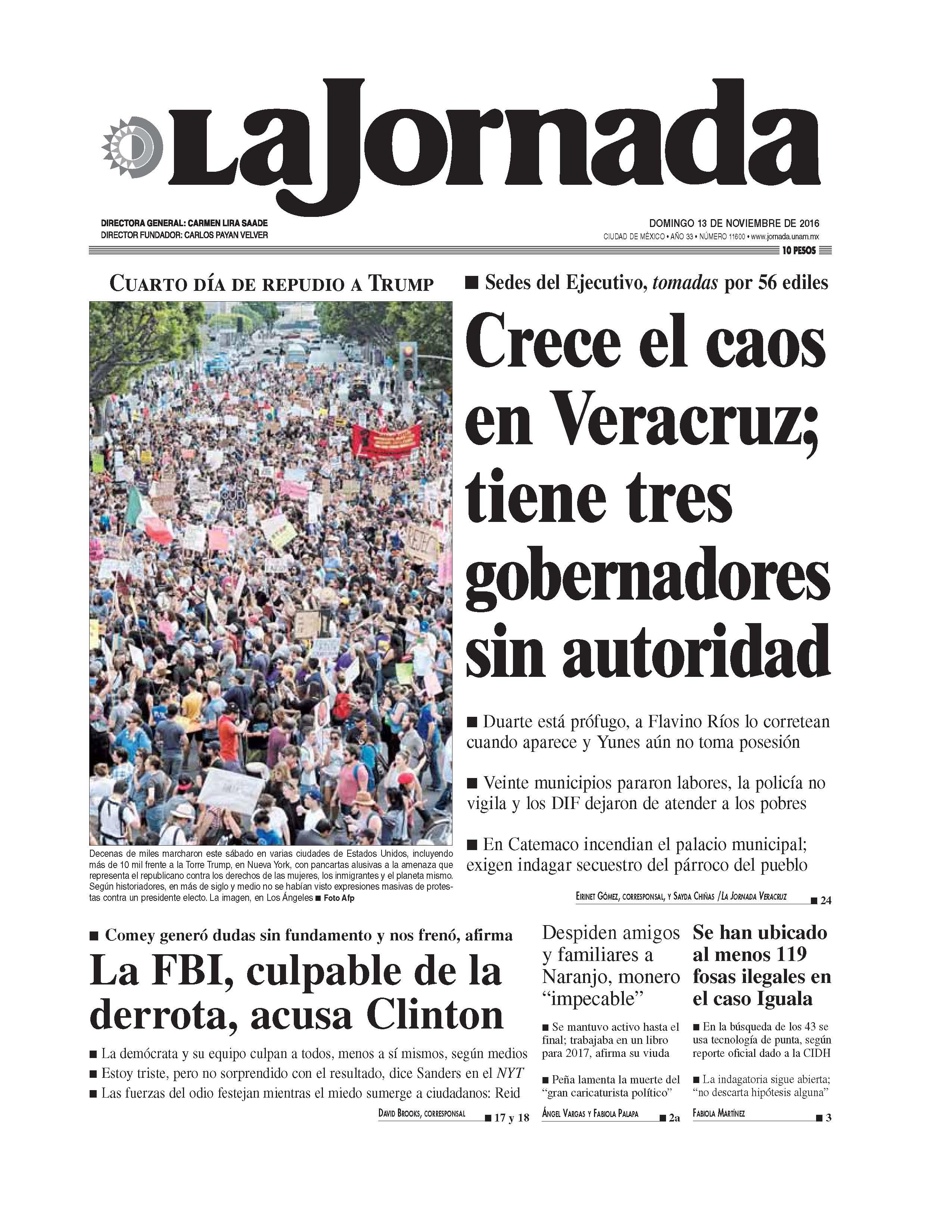 La jornada pol tica for Noticias del espectaculo mexicano del dia de hoy
