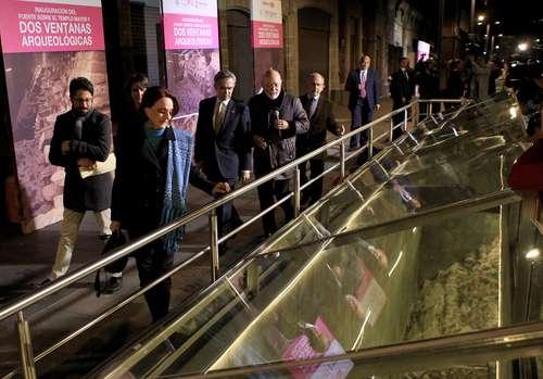 Dos ventanas arqueológicas servirán para apreciar vestigios en el Templo Mayor