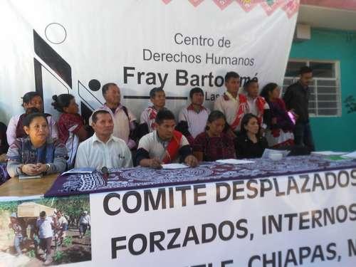 Desplazados de Chalchihuitán piden al gobierno reparación de daños