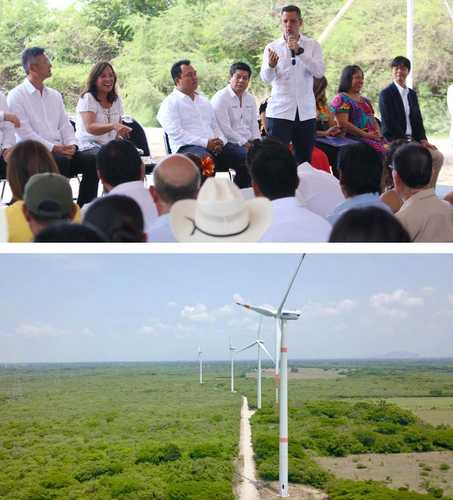 Inauguran un parque eólico y dos subestaciones eléctricas en Oaxaca