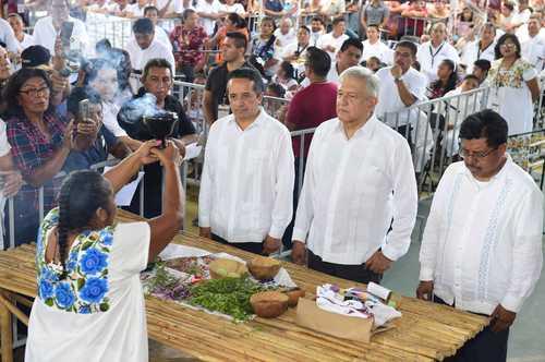 Si consulta indígena rechaza el Tren Maya, se cancelará: AMLO