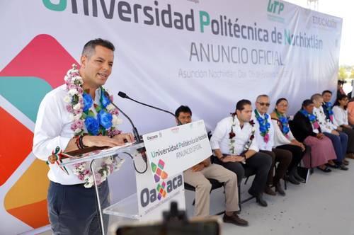 Anuncia Murat creación de la Universidad Politécnica de Nochixtlán<br>