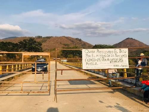 Pueblos de Guerrero prohíben la entrada para protegerse del coronavirus