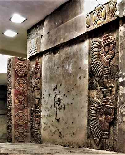 Confirma el INAH por primera vez uso de cinabrio y hematita en murales tempranos de Teotihuacan