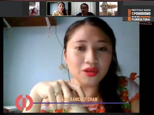 Mujeres indígenas periodistas rompen estereotipos al ejercer su oficio con respeto, concluyen en foro