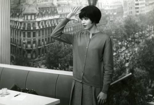 La actriz francesa, en una escena de la clásica película de Jean-Luc Godard