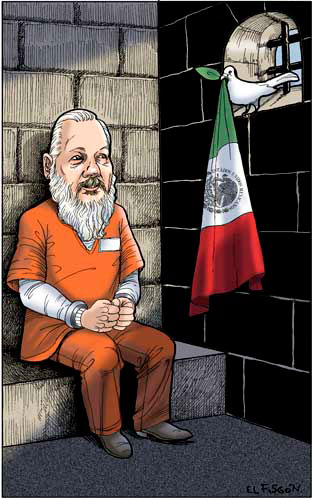 Asilo a Assange - Fisgón
