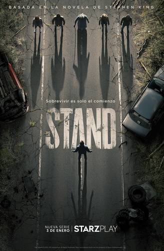 Cartel promocional de la serie The Stand.