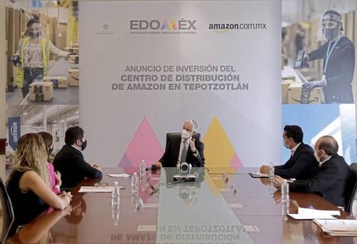 El mandatario del estado de México, Alfredo del Mazo, se reunió en el palacio de gobierno, en Toluca, con directivos de la empresa de comercio electrónico Amazon, la cual invertirá en un nuevo proyecto en la entidad.